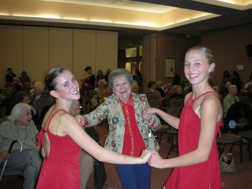 Our student dancers at a local Retirement Center