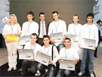 First Place students and teachers from Chernivtsi University in the Ukraine