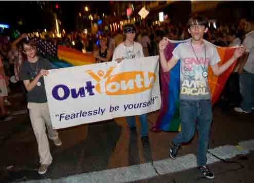Out Youth at 2009 Pride