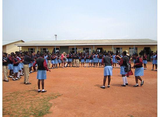 Swazi school children dancing