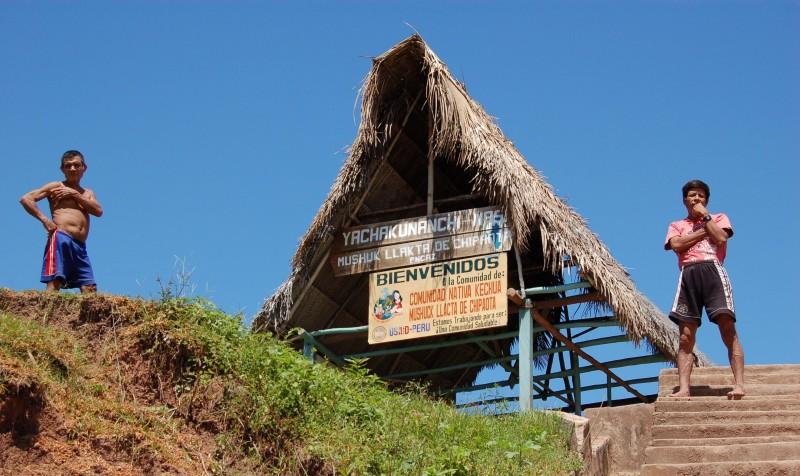 Entrance to Chipaota, Peru