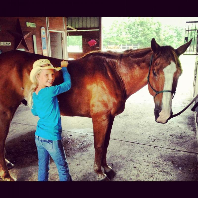 Equine Assisted Learning teaches self-confidence & self-control.