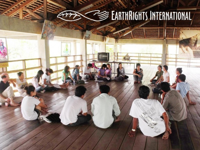 Students from EarthRights School Burma on a site visit