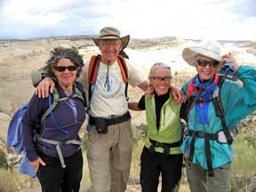 Broads & Bro on a hike during the 20th Anniversary Broadwalk in Escalante, Utah.