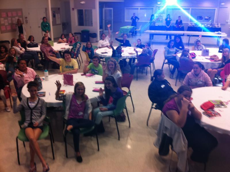 Girl Scouts were a captive audience discussing the challenging topic of human trafficking.