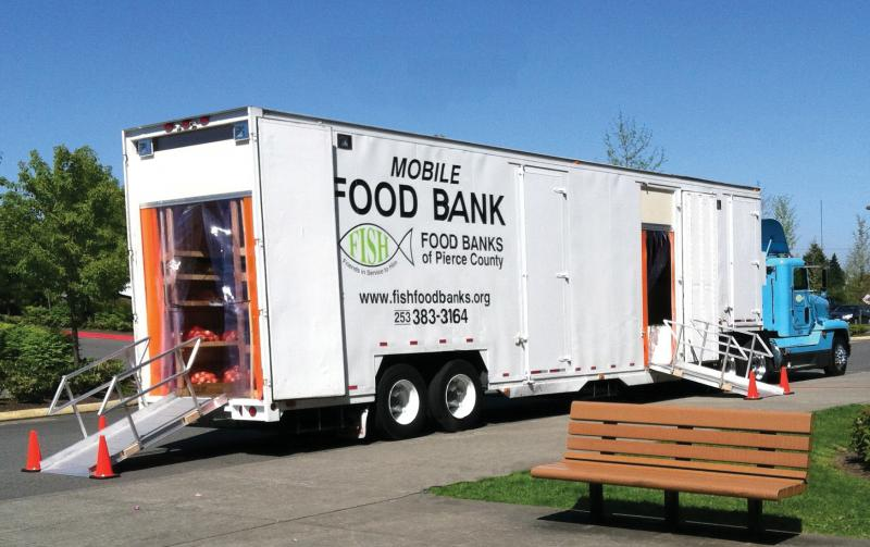 FISH Mobile food bank at Northeast Tacoma Elementary School