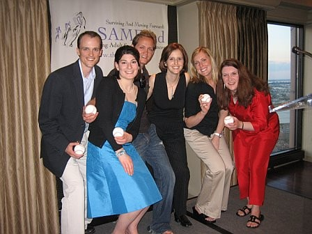 Some of our very first grant recipients at our first Celebration of Life event in Boston, 2006