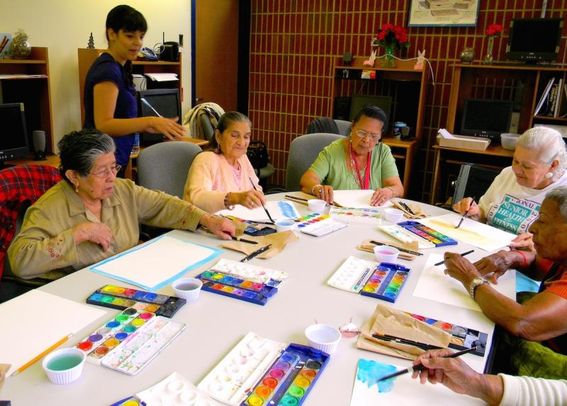Watercolor classes for seniors with Alzheimer's and other dementias