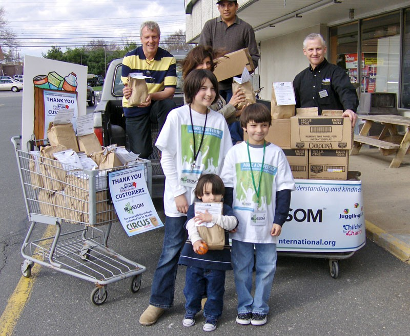Blossom's Children for Charity program participates in 3 day food drive.