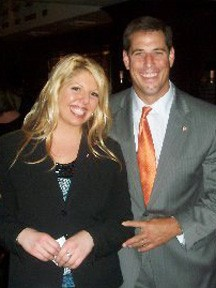 Amanda Giddings and Paul Isenberg at our 1st Annual Celebrity Bartender Night