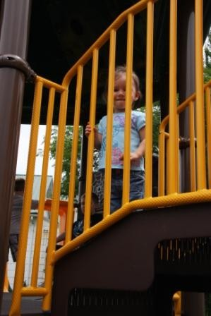 This Little Girl Loved the Accessible Playground at the Sensory Park!