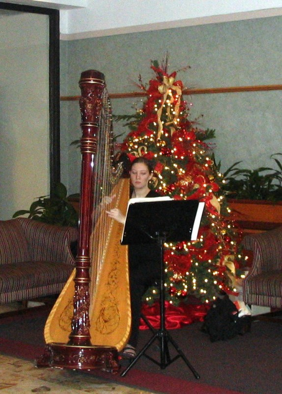 harp playing during the holidays