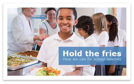 Hold the fries image of our youth for healthy eating