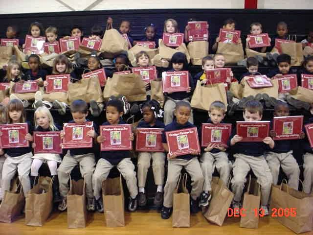 Hurricane Katrina kids receive our books