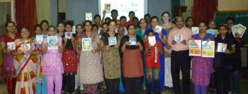 Libraries of books to underprivileged schools in India http://tinyurl.com/c3doq8r