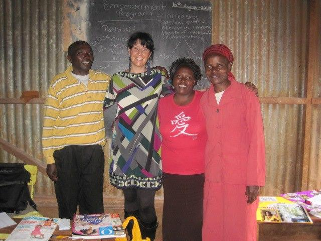 R2T Founder, Janet Patry with Empowerment Program Participants