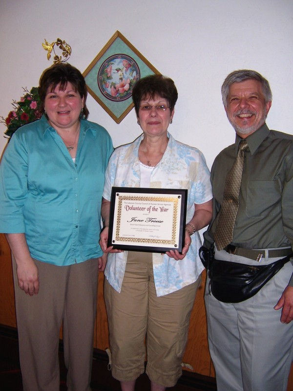 Volunteer of the Year, June Treese