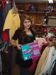Katelyn at Angels Clothing Closet