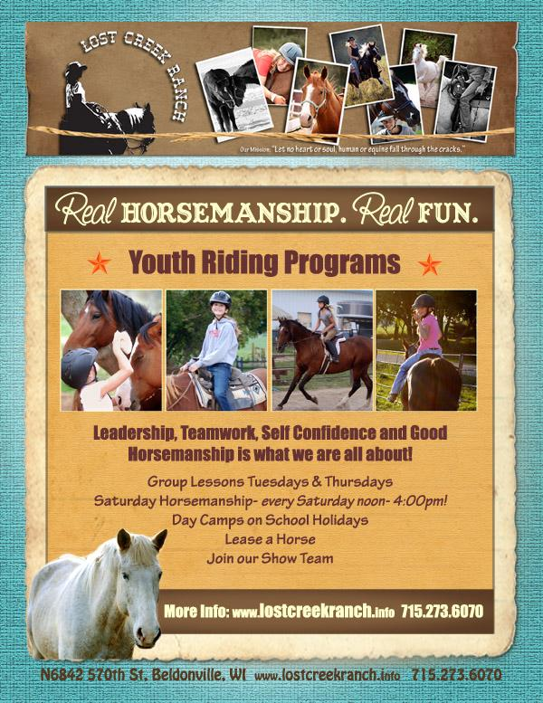 Youth Horsemanship program- one of our most popular programs for kids to learn more about horses and riding