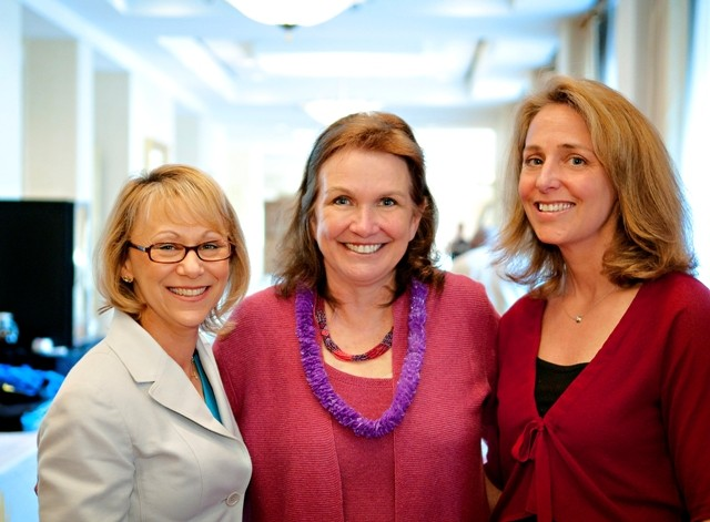 Jean Sachs, Elizabeth Edwards and Elyse S. Caplan at our conference on metastatic breast cancer.