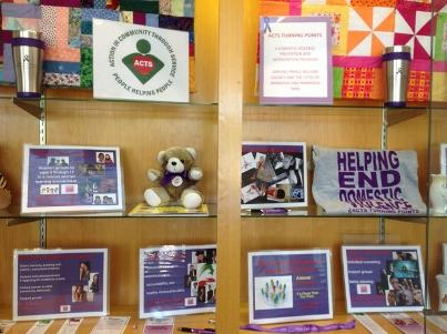 ACTS Turning Points, our domestic violence intervention program; our library display during Domestic Violence Awareness Month