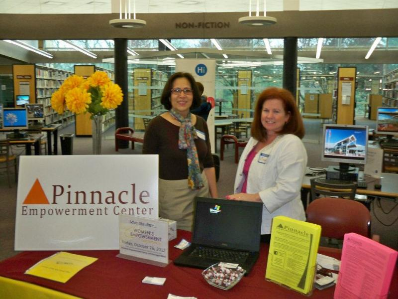Life Coach Maria Shepard-Smith and Career Coach Cindy Virtue at the 2012 Money Matters Fair.