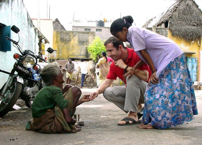 volunteer in his mission in Tamil Nadu in India