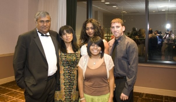 2008 AKMSF Scholarship Winners with Kuruvilla Family