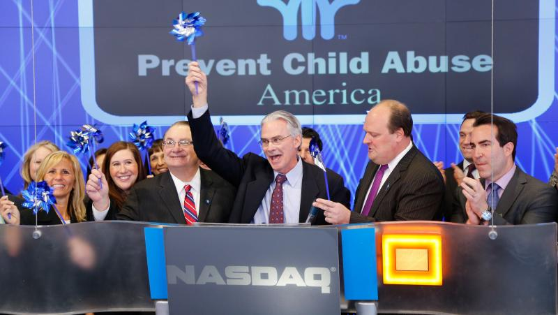 Ringing the NASDAQ Opening Bell on April 2, 2013 to kick off Child Abuse Prevention Month