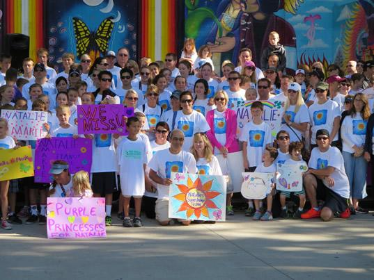 FARE Walk for Food Allergy in Sacramento in the memory of Natalie Giorgi, age 13, who died from an anaphylactic reaction to peanuts in July. Nearly 1,000 walkers, many of whom were part of Natalie's Sunshine Team, were in attendance.
