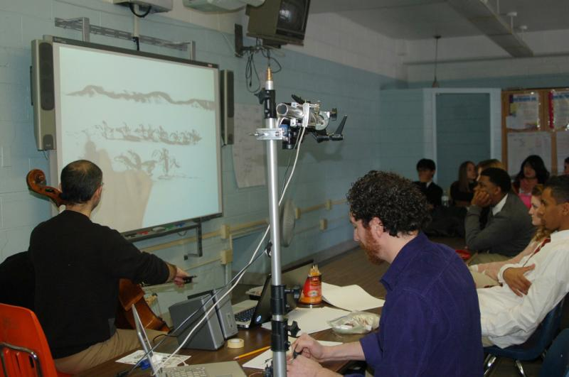 Music & Art Demo by Kinan Abou-afach and Kevork Mourad to Northeast High School students