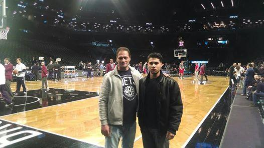 UNITY A JOURNEY OF HOPE along with The Brooklyn Nets and B.P.M. Hotel (beats per minute) all teamed up to grant Tom's wish, who has pancreatic cancer.  Here he is with his son, courtside!