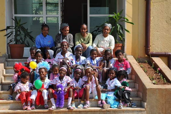 Princess party to welcome girls home to their new orphanage