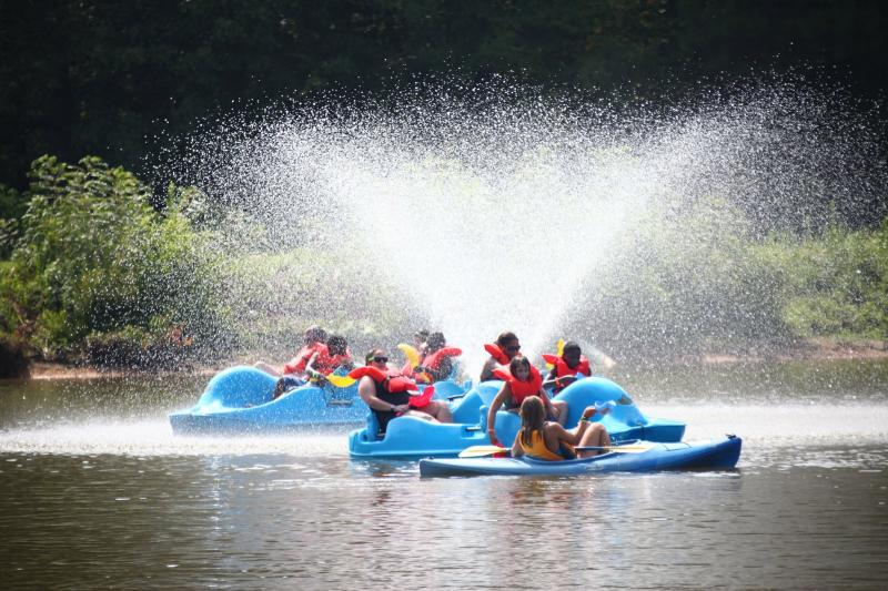 We have lots of fun camp activities like paddle boating and biking,