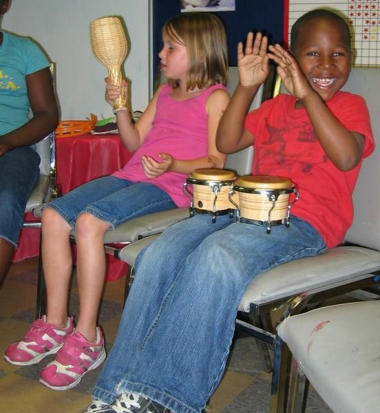 Homeless kids at a shelter learn percussion