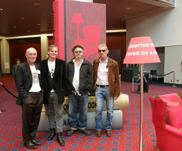 Authors Peter Griffiths, Lorin Morgan-Richards, Niall Griffiths and Chris Keil at Wordstock 2010