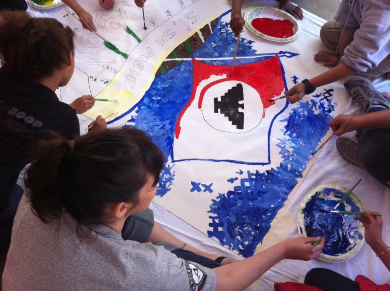Cesar Chavez Murals at Washington Elementary