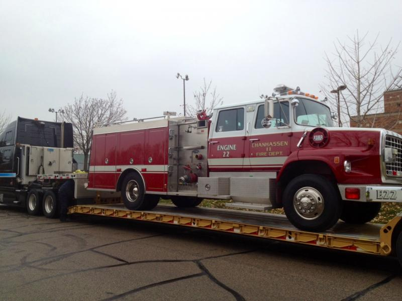 Donating a new fire engine to Broad Channel Fire Dept after Hurricane Sandy