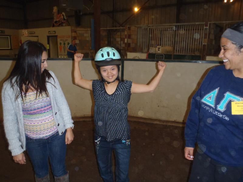 Students develop strength while riding.