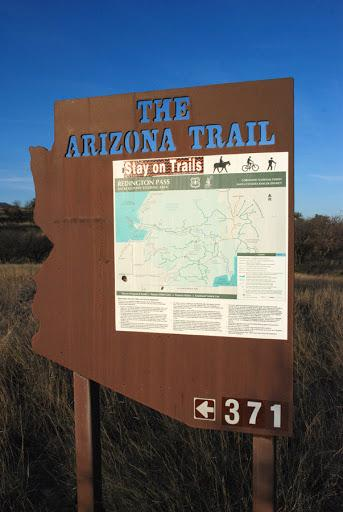 Arizona Trail sign in the Rincons