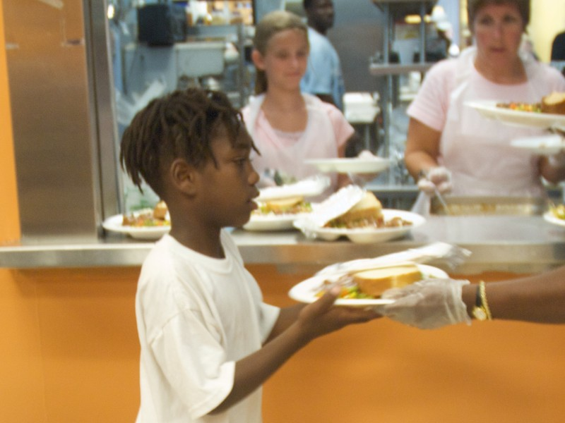 Sulzbacher Center serves 3 meals a day, 7 days a week, 365 days a year to anyone who is hungry.