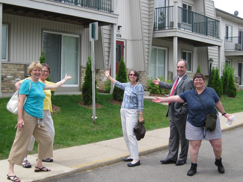 New condo owner with MOI board members.