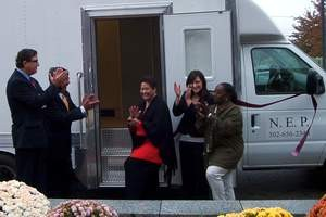We cut the ribbon on the new Needle Exchange van in November 2007