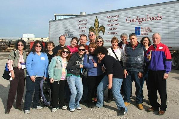 Volunteers after sorting donations at Second Harvest Food Bank