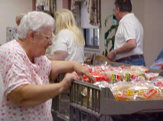 Nearly 600 fixed-income seniors receive food through our Elder Share program.
