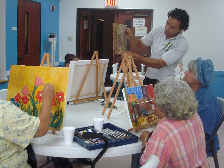 Seniors Art Program at the Wesley Community Center.