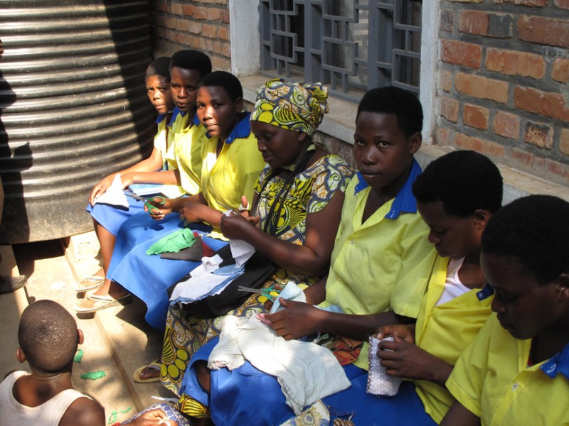 Vulnerable women and girls learn skills training