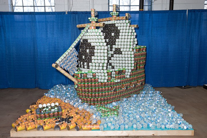 Canstruction-an annual fundraiser that is lots of fun and raises awareness at the Home Builders Show