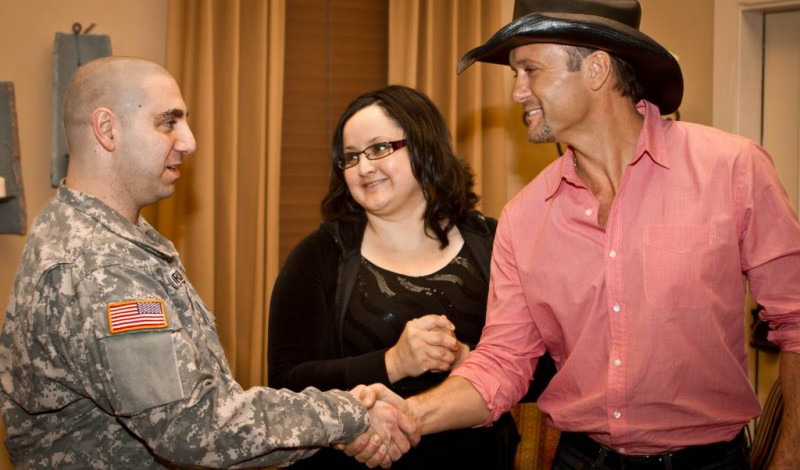 Tim McGraw joined our wounded warriors at the Operation Homefront Village.