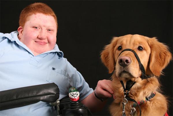 Joe Mester & Mobility Assist Dog Teddy